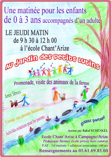 Au jardin des petits lutins école chant`arize petite enfance 0-3 ans